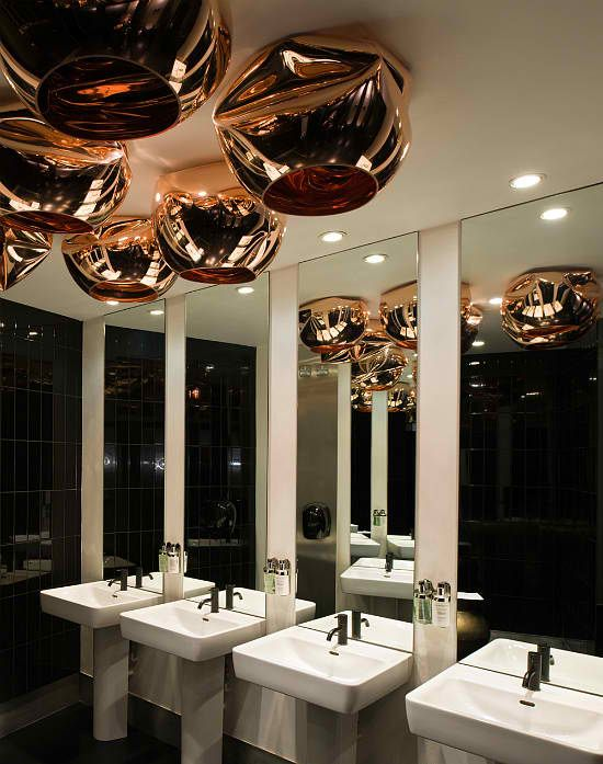 Modern Bathroom Design Of Barbecoa Restaurant By Speirs Major: Restaurant  Bathroom Design | Lighting | Pinterest | Restaurant Bathroom, Modern  Bathroom ...