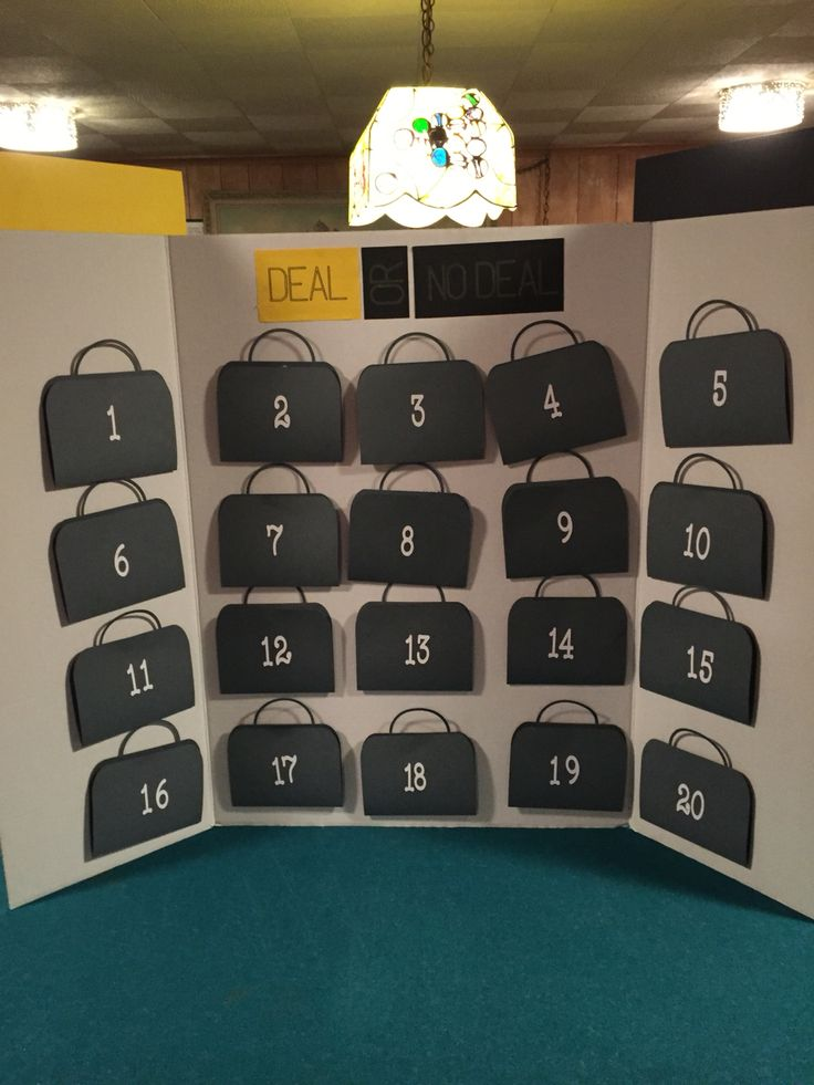 Deal or No deal Made with cricut                              …