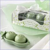Two Peas in a Pod Salt and Pepper Shakers for Wedding Guests
