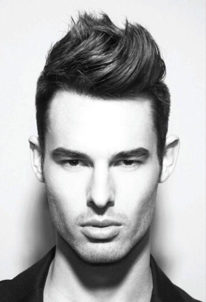High Quiff Frisur | Männer Frisuren | Pinterest | Dickere haare ...