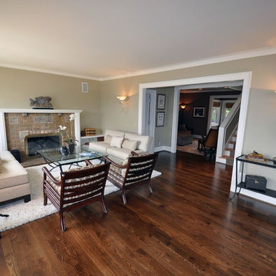 Dark Wood Floors Living Room Furniture Gray Walls