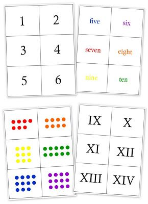 Printable Number Matching Cards (Learn Roman numerals while learning about Ancient Rome)