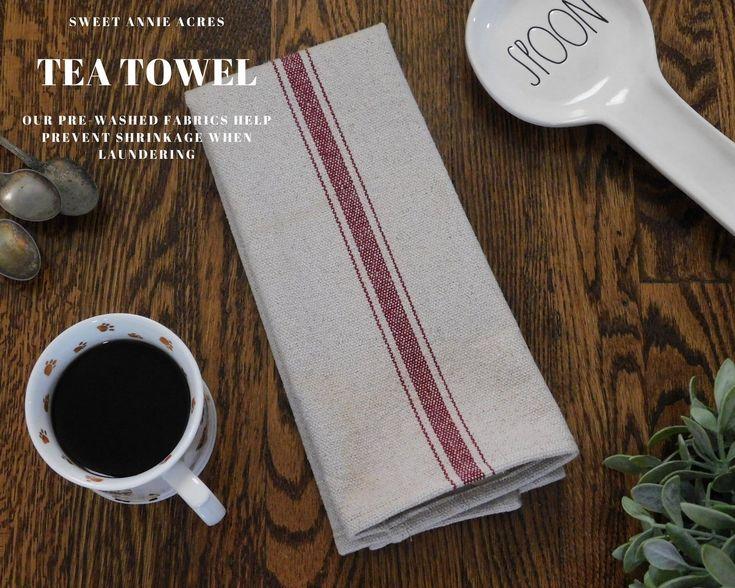 Grain sack kitchen towel flour sack tea towel