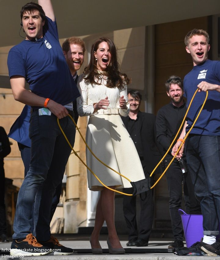 It was a very special day at Buckingham Palace as the Duke and Duchess of Cambridge and Prince Harry hosted a tea party in the Palace ground...