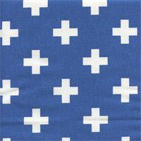 Swiss Cross Cobalt Cotton Contemporary Drapery Fabric by Premier Prints