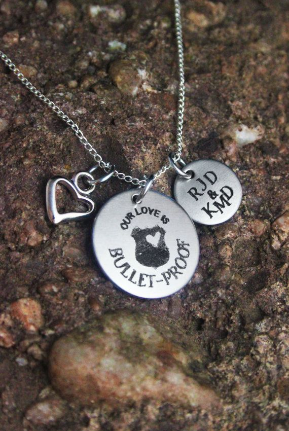 Personalized Police Wife or Girlfriend - Personalized Policeman's Necklace - Personalized Military Jewelry
