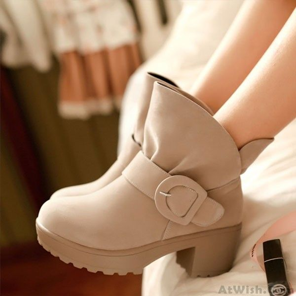 Wow~ Awesome Sweet Belt Fastener Rough Heels Martin Boots! It only $34.99 at www.AtWish.com! I like it so much<3<3!