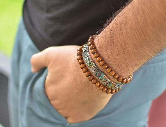 bracelet jonc homme  maya vintage par madewithloveinaiaciu sur Etsy