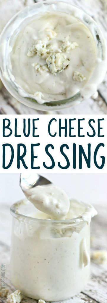 literally the best blue cheese dressing i've ever tried!!! BLUE CHEESE DRESSING #saladdressing #bluecheese #bluecheesedressing
