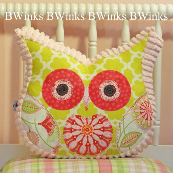 Owl Pillow Stuffed Owl  Bedroom Decor Pillow  The by BWinks, $30.00