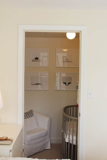 What a cool way to transform a closet into a mini nursery for tight spaces!