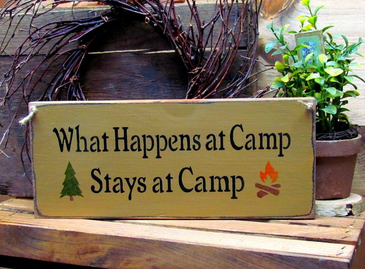 Wooden Signs, What Happens At Camp Stays At Camp, Campsite Decor