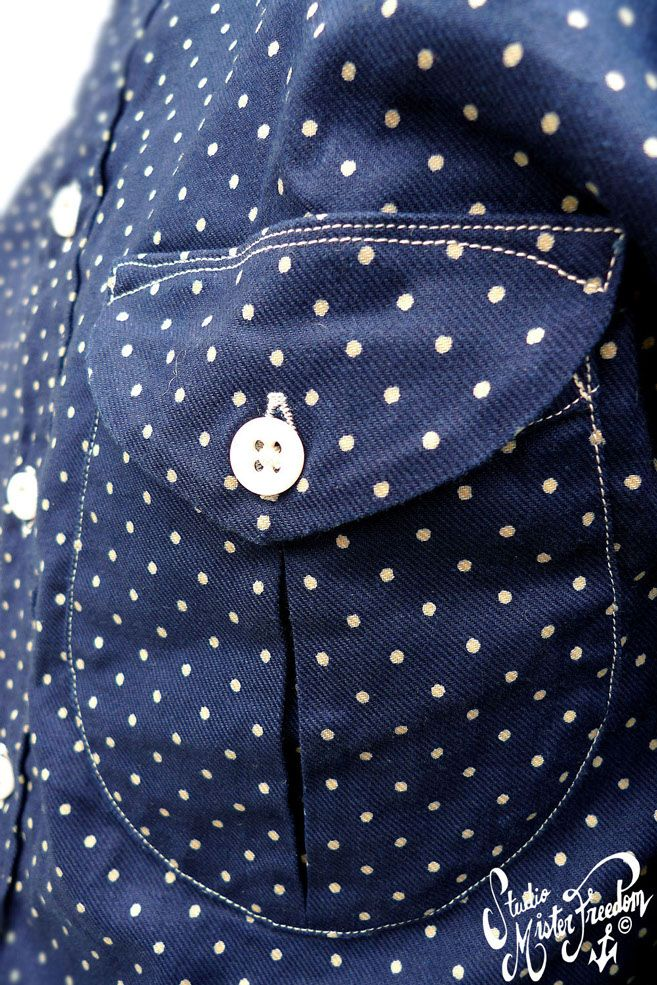 MISTER FREEDOM ® MFSC Reno Shirt Indigo Dot