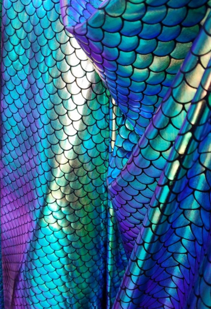4 way stretch  iridescent two tone green/blue/gold   mermaid foil scales on poly spandex fabric (not washable) by la20fabrics on Etsy