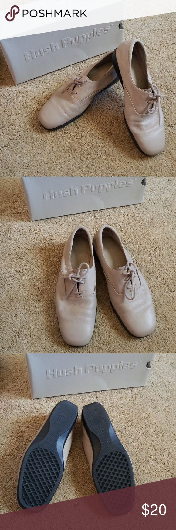Hush puppies sneakers Rhapsody taupe sneakers that are previosuly well loved and taken care of shows of wear of crease on them in pictures but no rips, tares or scuffs Hush Puppies Shoes Sneakers