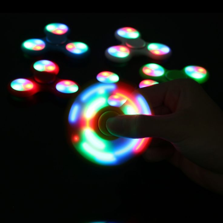 LED Light Fidget Spinner Finger ABS EDC Hand Spinner Tri For Kids Autism ADHD 5 Styles Anxiety Stress Relief Focus Handspinner [HS007] - $6.50 : TITLE