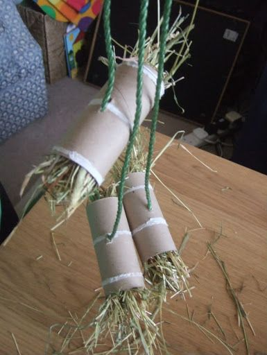 The incredibly versatile TP tube filled with hay  string.?