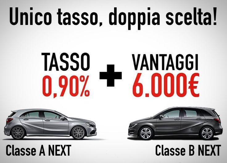 Da Barbuscia unico tasso doppia scelta! #ClasseA NEXT e #ClasseB NEXT con TAN fisso 090% e 6.000 di vantaggio cliente. Scopri l'offerta!  http://bit.ly/2lBm9XJ
