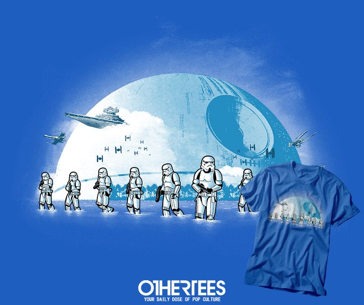 """""""BEACH TROOPERS"""" T-shirts, Tank Tops, V-necks, Sweatshirts and Hoodies are on sale until March 15th at www.OtherTees.com #tshirt #othertees #clothes #popculture #starwars #stormtrooper #deathstar #geek #nerd"""