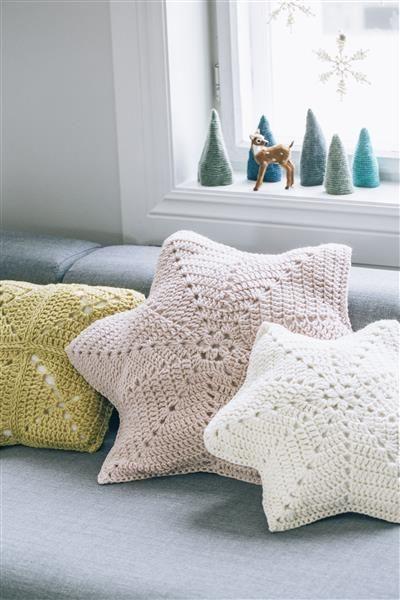 Tema 40: 22a-b-c Heklede puter #jul #strikk #christmas #knit