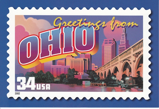 Usps Greetings From Ohio Postcard Fun Places To Go