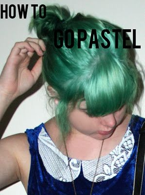 Putting conditioner in your hair dye can give you a pretty pastel color.