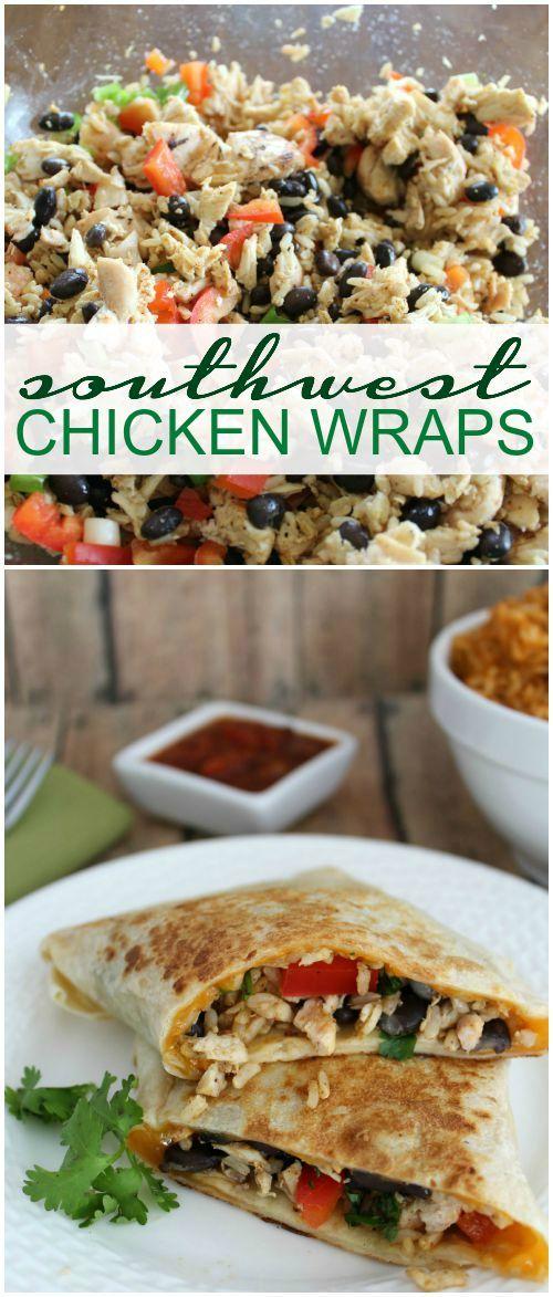 Southwest Chicken Wraps Recipe!