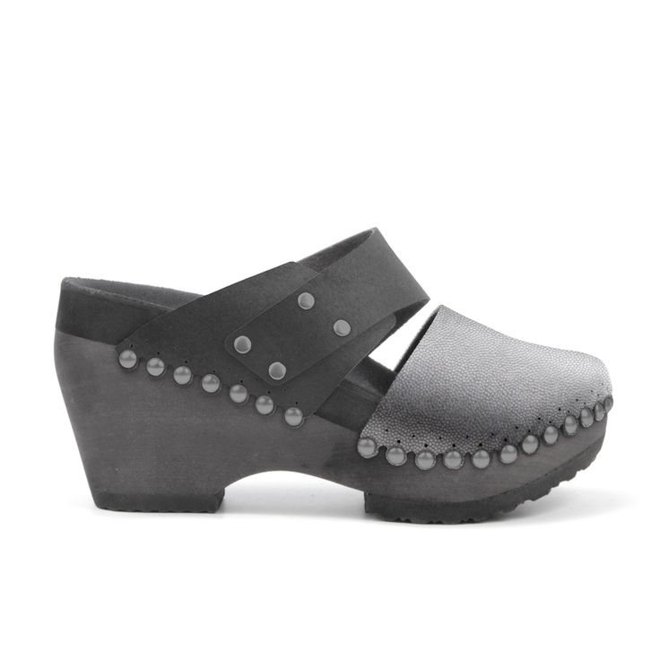"""These 21st-century clogs are crafted with comfort in mind. Mohop's High Clog Slide feature a 3.5"""" (89mm) handsculpted heel, ergonomically-carved footbed (including arch support!) and thick 1"""" (25mm) ultracloud padding. Our toe cap and adjustable slide strap are composed of high-end vegan leathers and suedes made from 3-dimensionally layered nylon microfiber, similar to the natural structure of leather, resulting in the breathability of leather but with superior durability and eco-friendl..."""