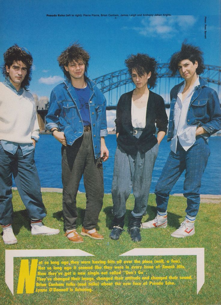 Smash Hits Photoshoot Sydney Harbour 1984