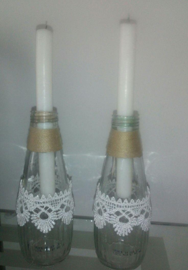 Candelabros botellas