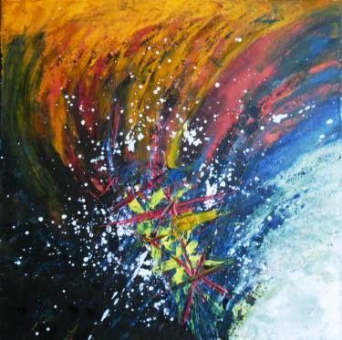 """Saatchi Art Artist Ildiko Decsei Csegoldi; Painting, """"Colors explosion"""" #art"""