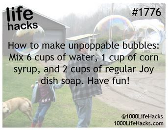 Unpoppable bubble solution