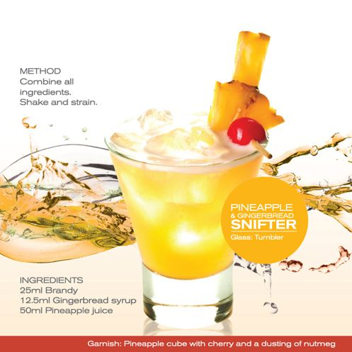 Pineapple & Ginger Snifter - Shake & strain.