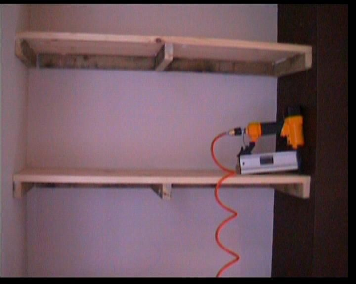 How to make floating shelves in an alcove
