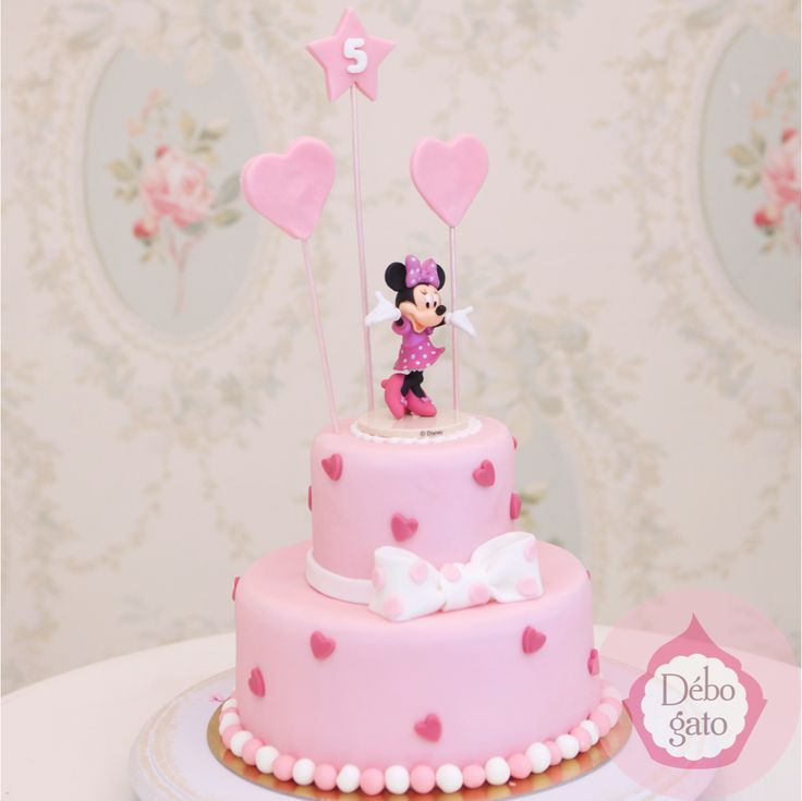 G teau minnie anniversaire birthday cake g teaux personnalis s fille rose personnages - Gateau anniversaire bebe fille ...