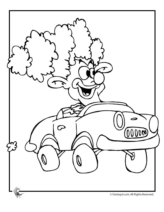 circus theme preschool coloring pages - photo#14