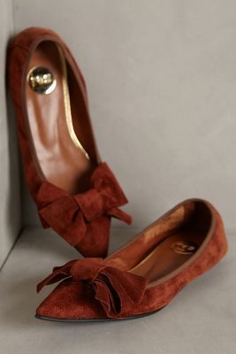 Anthropologie Highbow Suede Skimmers #anthrofave #anthropologie