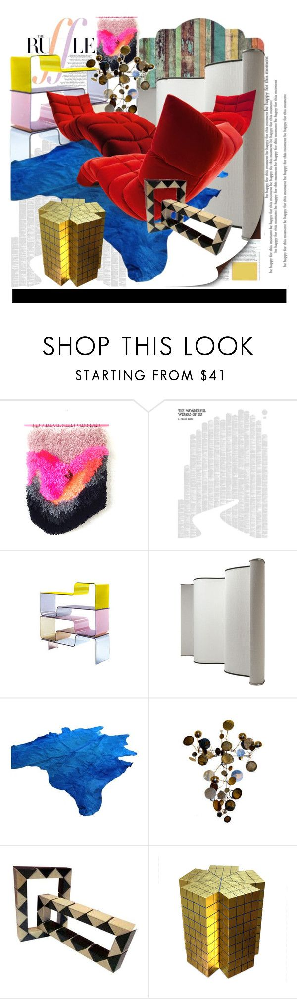 """""""Abstract Art out of Furniture"""" by synkopika ❤ liked on Polyvore featuring interior, interiors, interior design, home, home decor, interior decorating, WALL, Spineless Classics, Zeritalia and Baleri Italia"""