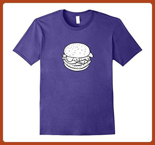 Mens Cheeseburger Burger Emoji Food Shirt XL Purple - Food and drink shirts (*Partner-Link)