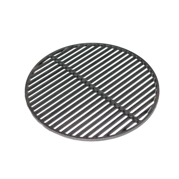Achieve better searing of meats and add flavor to any dish as this heavy duty cast iron grate retains seasonings and that signature hint of smokiness your food so desperately craves when using your kamado grill. Want even more cooking space? Combine the Grill Grate with the Pro-Zone Cooking System for up to a whopping 660sq. in. of grilling room! Now you can cook ribs, whole roasts and chicken, steaks and more all at once! This Cast Iron Grill Grate easily attaches to the Pro-Zone Cooking…