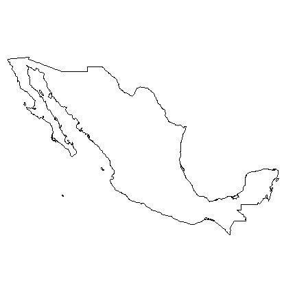 Geography Mexico Mexico, Map, Free coloring pages