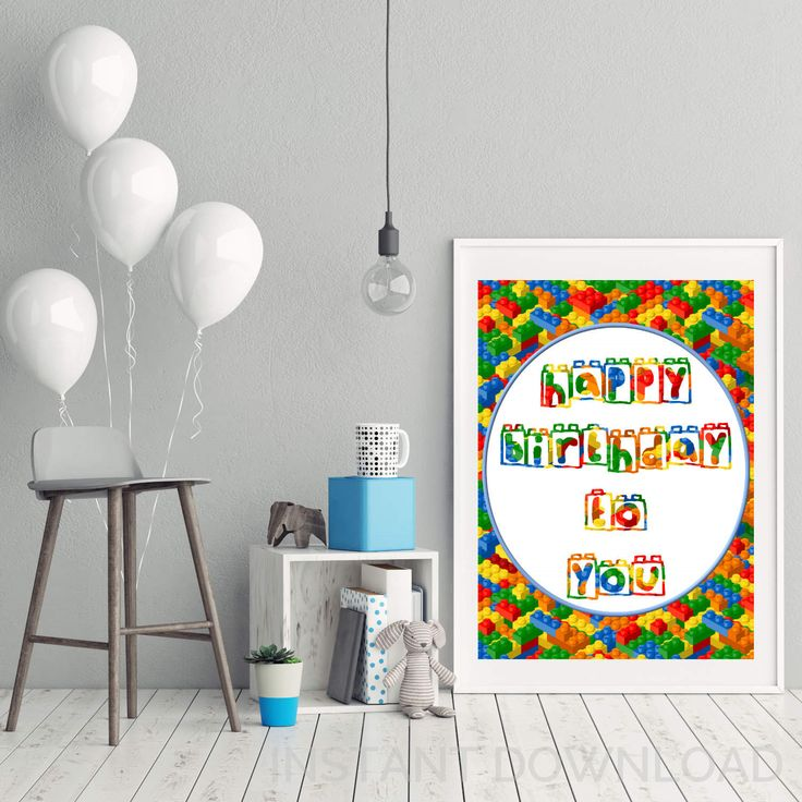 Excited to share the latest addition to my #etsy shop: Lego Happy Birthday Instant Download Party Poster, Lego Party Poster, Lego Party Decor, Lego Party Printables, Happy Birthday Poster, http://etsy.me/2BZdIio #papergoods #birthday #legoparty #legopartyprintable