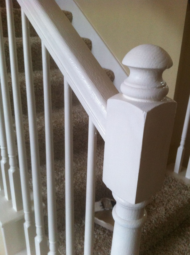 Banister painted with Annie Sloan chalk paint.
