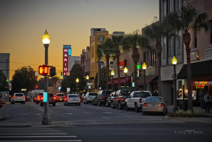 downtown ocala at dusk i love this photo home