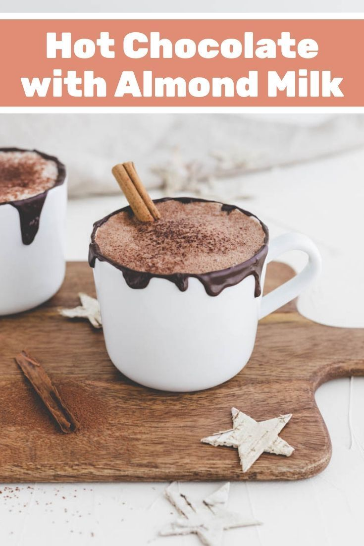 A Creamy Vegan Hot Chocolate Which Is Perfect For Cold Days This Hot Choco Hot Chocolate With Almond Milk Vegan Hot Chocolate Almond Milk Hot Chocolate Recipe