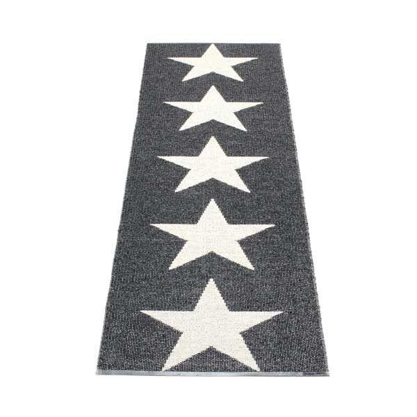Pappelina løber - Viggo metallic black, 70x150cm, 850kr