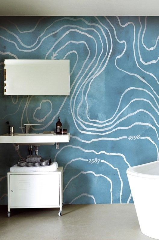 17 Best Images About Bathroom Wallpaper On Pinterest | Into The ... Badgestaltung Mit Tapete