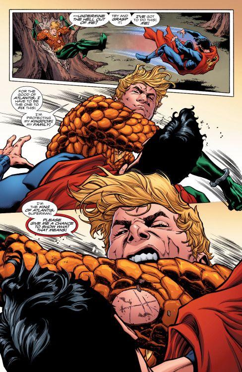 Aquaman v Superman in Aquaman #6