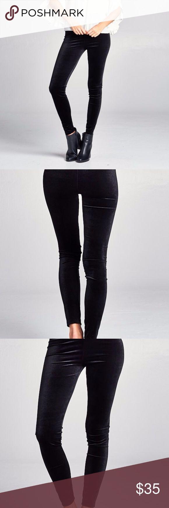 Black Velvet Leggings Velvet high waist stretch leggings. Discount Available with bundles. Fierce Broad Pants Leggings