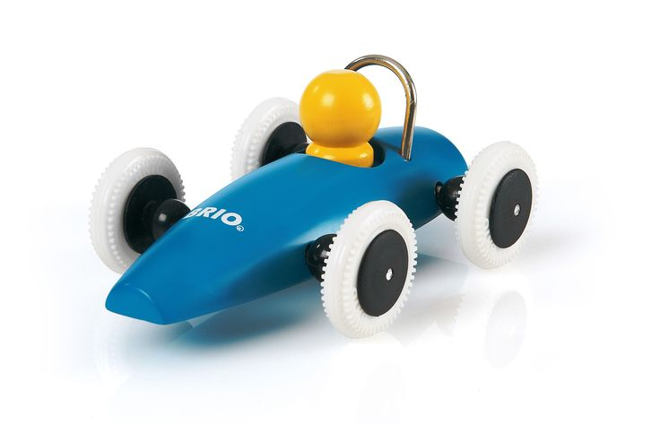 BRIO - Toddler Wooden Race Cars - Blue